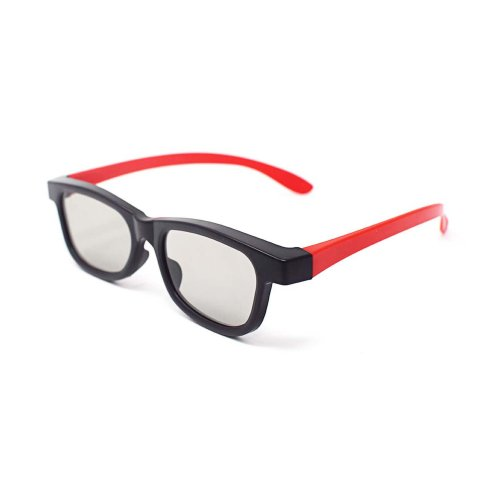 Ultra 1 to 5 Pairs of Red and Black Adults Passive 3D Glasses For Men Women Polorized Eyewear Style for All Passive TVs Cinema and Projectors Such as RealdD Toshiba LG Sony Panasonic and More