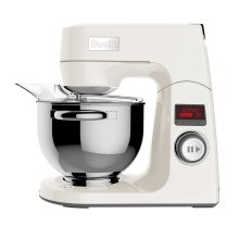 Dualit 88013 Stand Mixer 1000W 4.8 Litre Bowl LCD Timer Canvas White