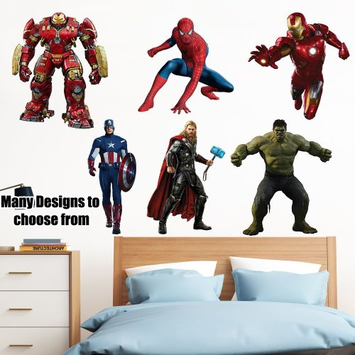 Superheroes Wall Sticker Kids Bedroom Decal