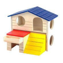 Cute Hamster Hideout Hut, Cute Wooden Bedding for Small Animals?K