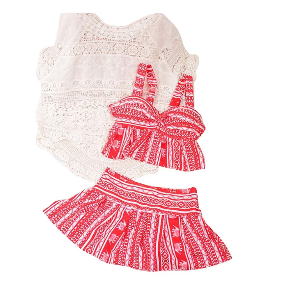 d094dbed Three-piece Sets Of Women Fashion Slim Swimsuit With Smock[Red] on OnBuy