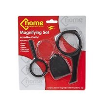 3 Magnifying Glasses -  magnifying set 3pc glass pocket fine detail bookreadingmagnifierglass print books maps