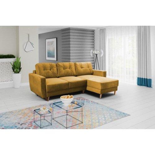 Strange Corner Sofa Bed Retro Storage Velveteen Fabric In Mustard Yellow Inzonedesignstudio Interior Chair Design Inzonedesignstudiocom