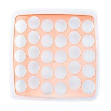 Egg Tray With lid Eggs Store 30 Grid Removable Plastic Save Space Egg Holder,B