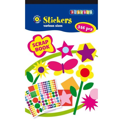 Pbx2470624 - Playbox - Sticker Pad (scrapbook) - 346 Pcs