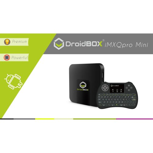 DroidBOX iMXQpro Mini with i9 Backlit Mini-Keyboard w/Touchpad Android 7.1 Nougat Smart Mini PC 4K UltraHD HDR Compatible Amlogic S905W Quad-Core...