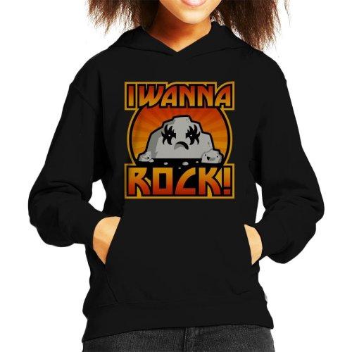 I Wanna Rock Kid's Hooded Sweatshirt