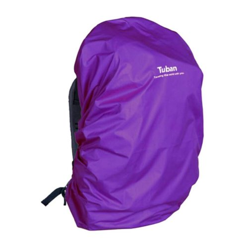 Outdoor Riding Backpack Rain Cover Waterproof Backpack Cover-40 L Purple