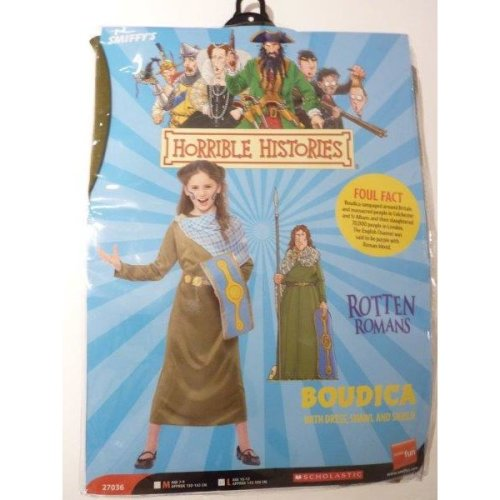 Large Girls Boudica Costume -  costume dress horrible histories boudica fancy girls book week childrens outfit smiffys