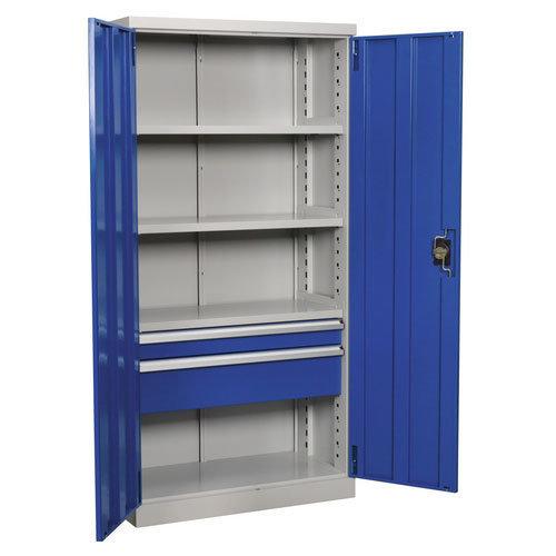 Sealey APICCOMBO2 1800mm Industrial Cabinet 2 Drawer 4 Shelf