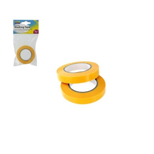 10mmx 18m Twin Pack Precision Masking Tape - 10mm x 2 Modelcraft Modelling -  masking tape 10mm x 2 modelcraft 18m modelling pack precision rolls low