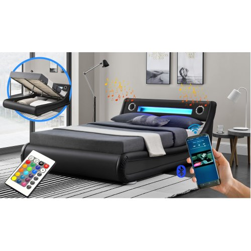 Rio LED & Bluetooth Speaker Ottoman Bed Frame