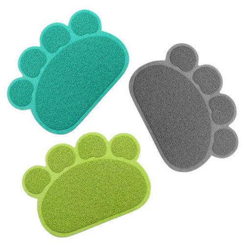 HAPET PVC Paw Shape Cup Pet Dog Cat Feeding Mat Pad