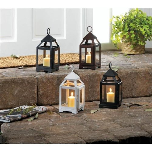 Gallery of Lighting 10018084 Mini Contemporary Candle Lantern, Silver