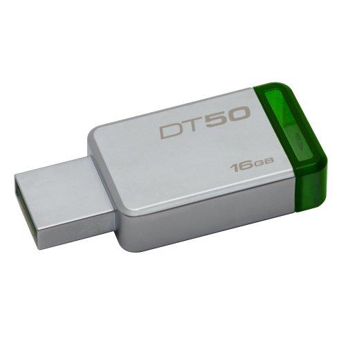 Kingston Technology DataTraveler 50 16GB 16GB USB 3.0 (3.1 Gen 1) Type-A Green,Silver USB flash drive