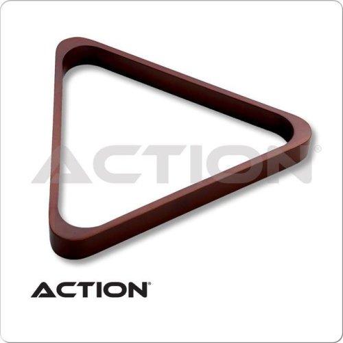 CueStix International RK8H CHOCOLATE Heavy Duty Wooden 8-Ball Triangle Rack - Chocolate