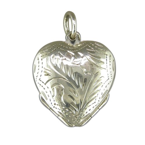 Sterling Silver Four Way Heart Locket On A Snake Necklace