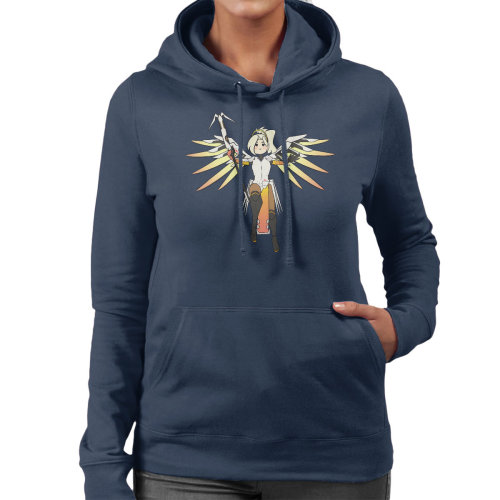 Mercy Cute Cartoon Overwatch Women's Hooded Sweatshirt