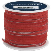 "Realeather Crafts Suede Lace .125""X25yd Spool-Red"