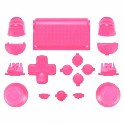 ZedLabz full replacement button set mod kit for 2nd gen Sony PS4 JDM-030 controllers - pink