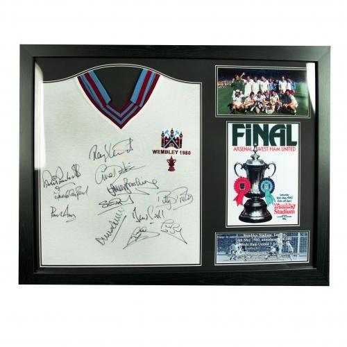 West Ham United F.C. 1980 FA Cup Final Signed Shirt (Framed)