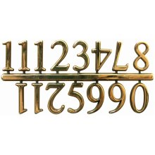 "Arabic Clock Numerals .8125""-Gold"