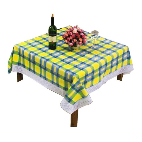 """Fashionable Grid Tablecloth/ Durable Square Table Cloths Water/Oil Proof,59X59"""""""