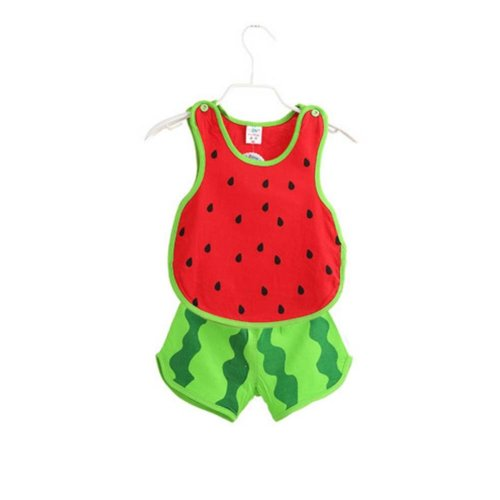 Sleeveless Watermelon Baby Suit Kids Cloth,100cm