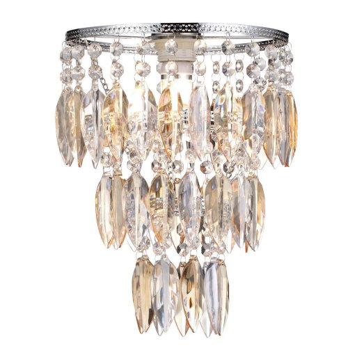 Easy Fit Nikki Champagne Lamp Shade for Ceiling Fitting Modern Chandelier Decoration