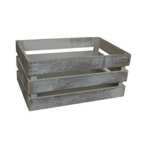 Small Vintage Slatted Wooden Crate