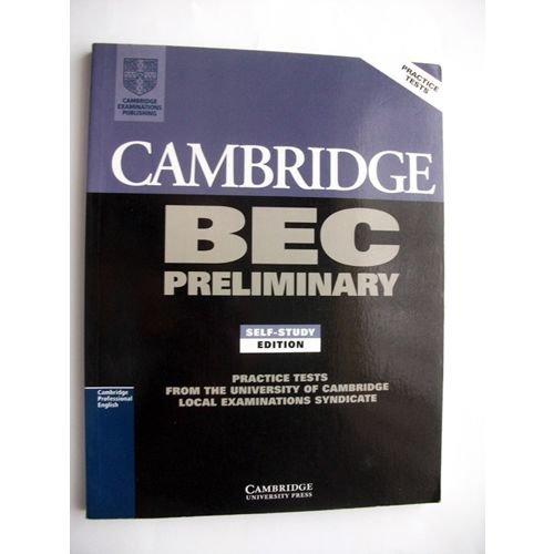 Cambridge BEC Preliminary Practice Tests