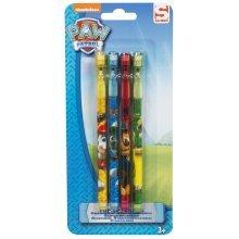 Paw Patrol Pop Up Pencils - 4 Pack