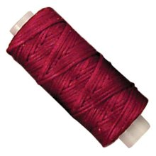 25yd Red Waxed Braided Cord -  waxed braided cord 25ydred