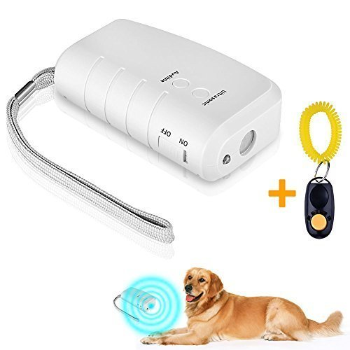 Dog Repeller,UnAmico Electronic Handheld Repellent and Ultrasonic Anti Barking Device With LED(Free Gift Dog Trainer)