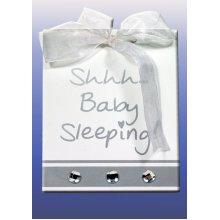 Splosh Baby Sleeping Sign - White