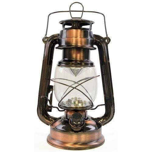 Lloytron 15x LED Storm lamp Lantern With Carry Handle - Copper Glass (D1201CP)