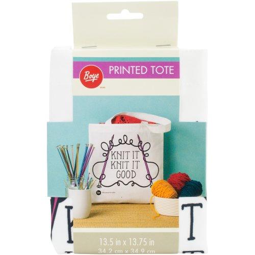 """Boye Tote Bag 13.5""""X13.75""""-Knit It"""