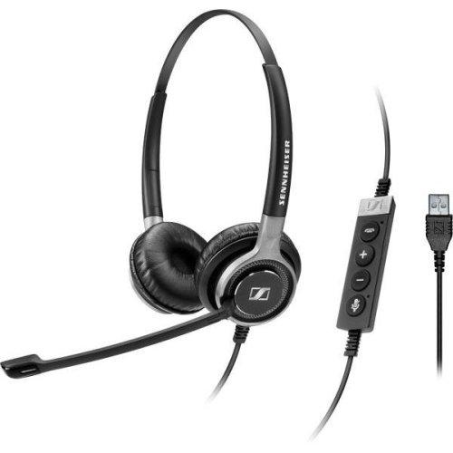 Sennheiser SC 660 USB ML Binaural Head-band Black,Silver headset