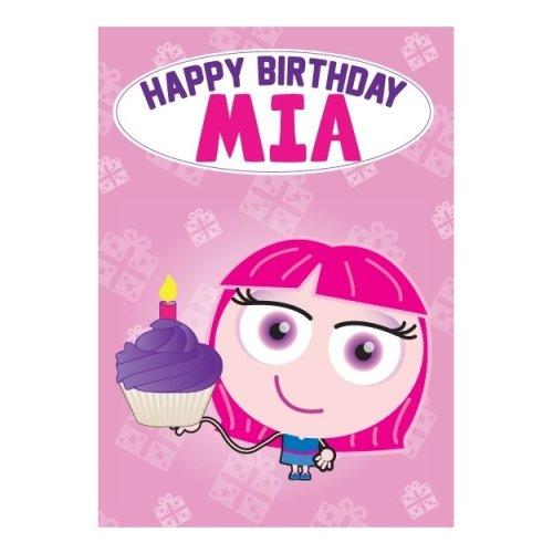 Birthday Card - Mia