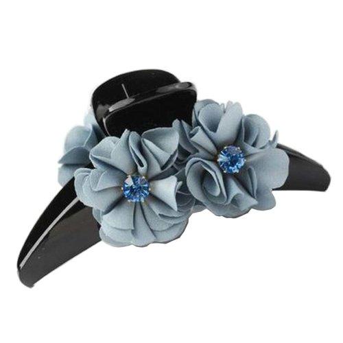 [F] Pretty Flower Fabric Hair Claws Hair Barrettes Claw Clips