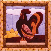 Rooster Quilt Magic Kit-Rooster