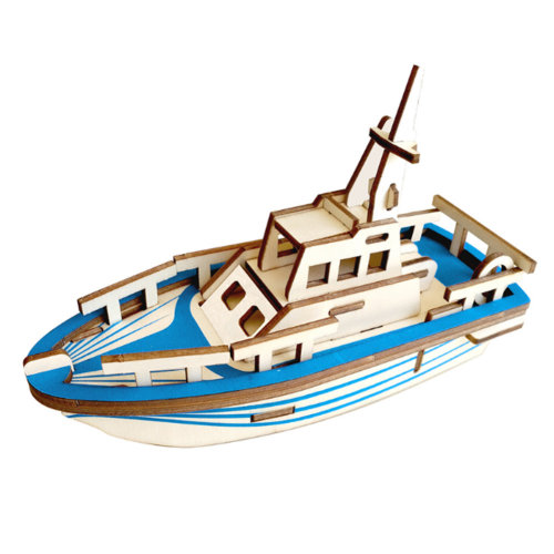 3D Wooden Puzzle  Educational Toys 3D Puzzle Gift, Boat, 2 Packs