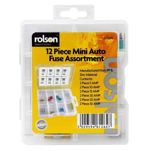 Car Fuse Mini Assortment pack 12 pack Assorted Auto Fuse Fuses Pack