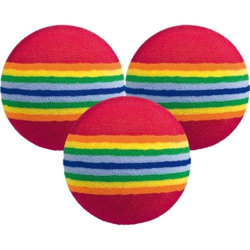 6 Multi-colour Foam Golf Practice Balls - Longridge 12 18 24 Rainbow Stripe -  longridge foam practice balls 6 12 18 24 rainbow stripe training golf