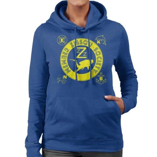 Life Aquatic Inspired Zissou Society Women's Hooded Sweatshirt