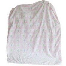 Pink Elephant Fleece Baby Blanket