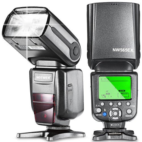Neewer NW565EX E-TTL Slave Flash Speedlite with Flash Diffuser for Canon 5D Mark III,5D Mark...