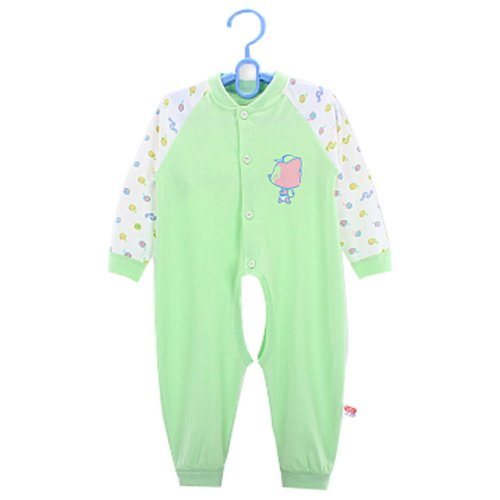 Baby Suit Clothing Long-Sleeved Cotton Baby Crawl Sports Open Fork Cotton Green
