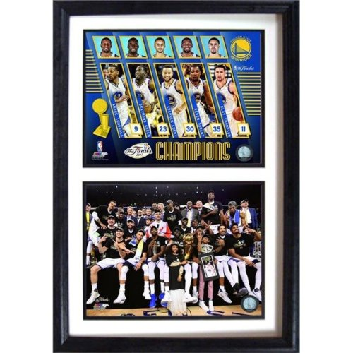 Encore Select 298-98 12 x 15 in. 2017 NBA Champion, Golden St Warriors - Double Frame