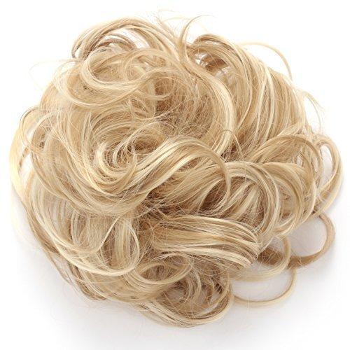 OneDor Synthetic Clip onin Messy Hair Bun Extension Chignon Hair Piece Wig (16H613)